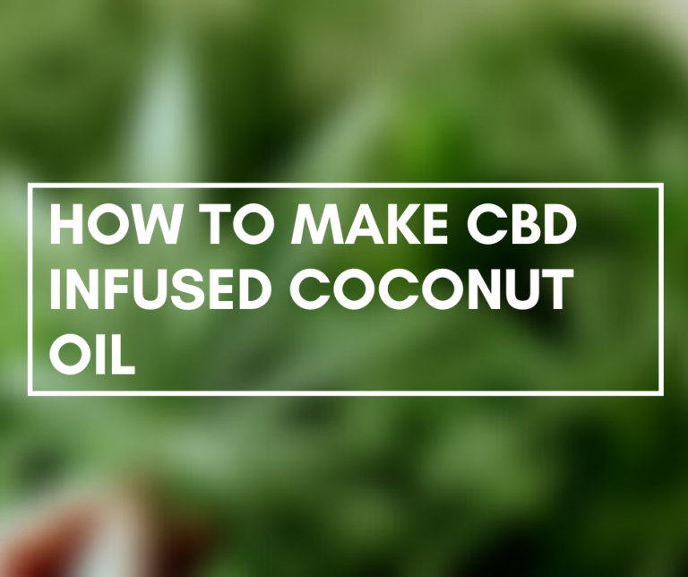 Making CBD-infused coconut oil