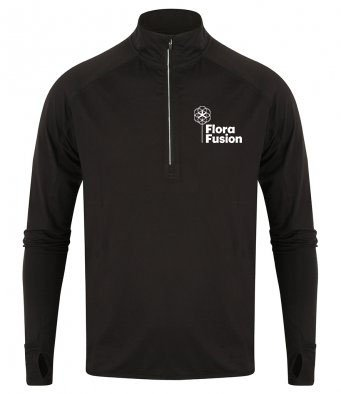 Long Sleeve Zip Neck Performance Top